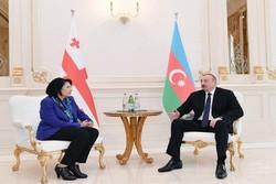 İlham Aliyev, Gürcistan Cumhurbaşkanı ile görüştü
