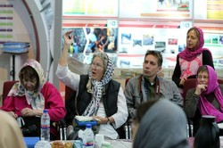 Code Pink visits fair featuring Iran's attempt to empower the deprived