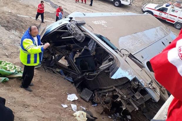 واژگونی اتوبوس در سقز ۲۱ زخمی و یک کشته برجای گذاشت