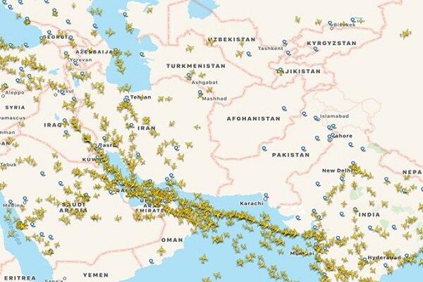 التوتر بين الهند وباكستان يسبب زيادة الطائرات العابرة من الاجواء الايرانية