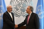 Iran's FM, UN chief meet in New York