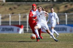 İran-Belarus Kadın Futbol Milli Takımları Maçından Kareler
