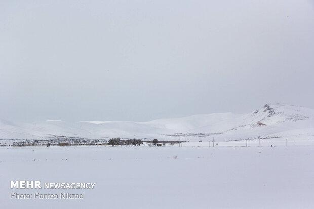 هطول الثلوج في محافظة جهار محال و بختياري