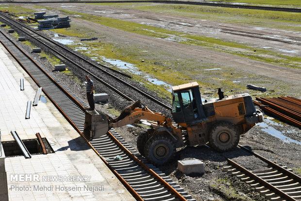 آماده سازی ایستگاه راه آهن رشت