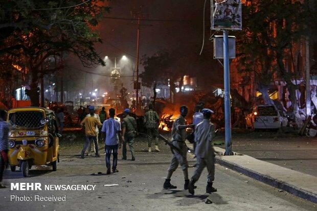 حمله الشباب به هتلی در موگادیشو