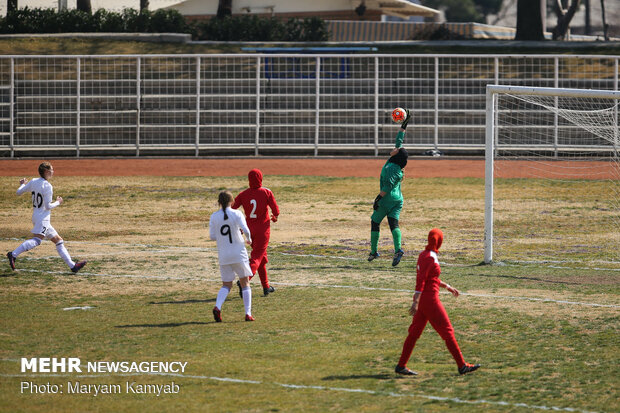 Iran's women's football team vs Belarus friendly