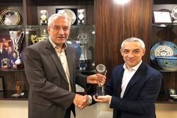 دیدار نایب رئیس اول فدراسیون فوتبال بلاروس با کفاشیان