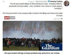 واکنشها به موضع رهبر حزب کارگر انگلیس درمحکومیت کشتار فلسطینیها