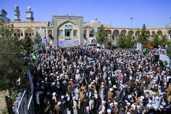 تجمع طلاب و اساتید حوزه در لبیک به بیانیه گام دوم انقلاب