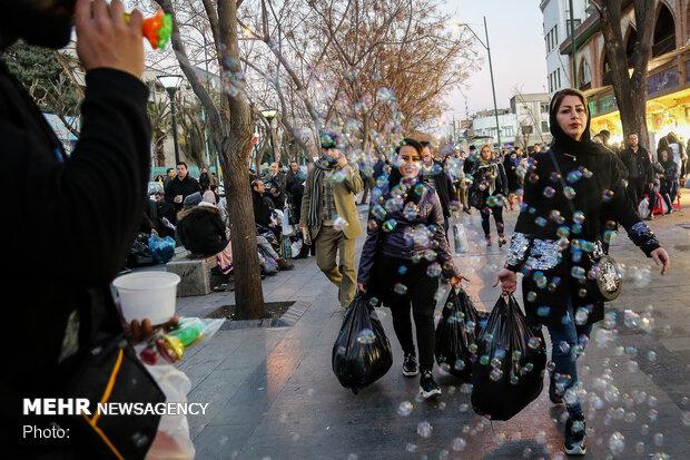 التسوق لعيد النيروز في ايران