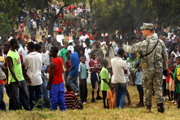 Humanitarian assistance or military intervention in Haiti