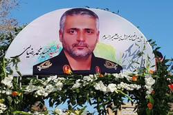 مراسم تشییع مدافع حرم حمید محمدرضایی در قزوین برگزار شد
