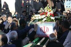 پیکر مامور نیروی انتظامی شهید «محمد محمودزاده» در اردبیل تشییع شد