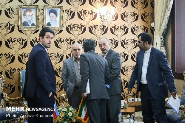 دیدار وزیر اقتصاد و صنعت جمهوری آذربایجان با وزیر اقتصاد