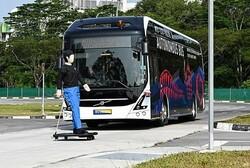نخستین اتوبوس الکتریکی خودران دنیا آزمایش می شود