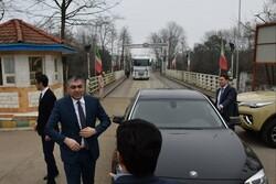 وزیر حمل و نقل آذربایجان از پل مرزی آستارا بازدید کرد