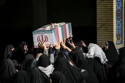 مراسم تدفین شهدای گمنام در دانشگاه تهران جنوب