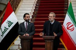 عراقی پارلیمنٹ کے اسپیکر کی ایرانی اسپیکر سے ملاقات