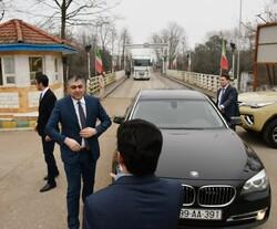 ورود وزیر حمل ونقل جمهوری آذربایجان به ایران از مرز آستارا