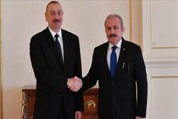 دیدار رئیس پارلمان ترکیه با الهام علیاف