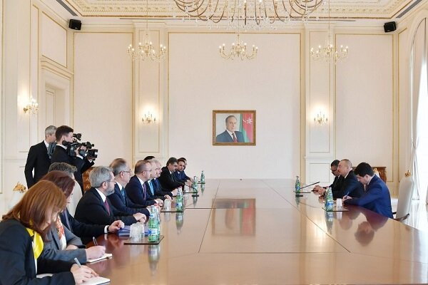 TBMM Başkanı Azerbaycan Cumhurbaşkanı Aliyev ile görüştü