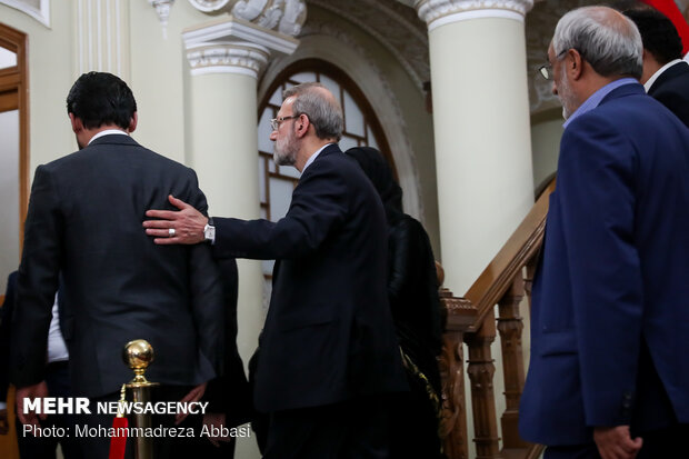 Meetings of Iraqi parl. speaker with Larijani and Zarif