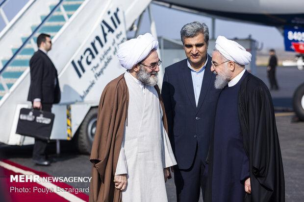 سفر حسن روحانی رئیس جمهور به رشت