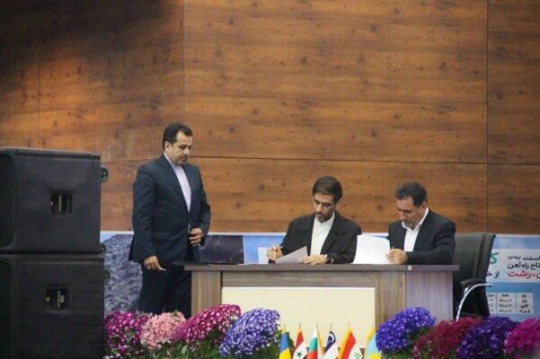 تفاهم نامه اتصال راه آهن رشت- آستارا و رشت - بندر کاسپین امضا شد