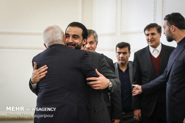 Meetings of Iraqi parl. speaker with Larijani and Zarif