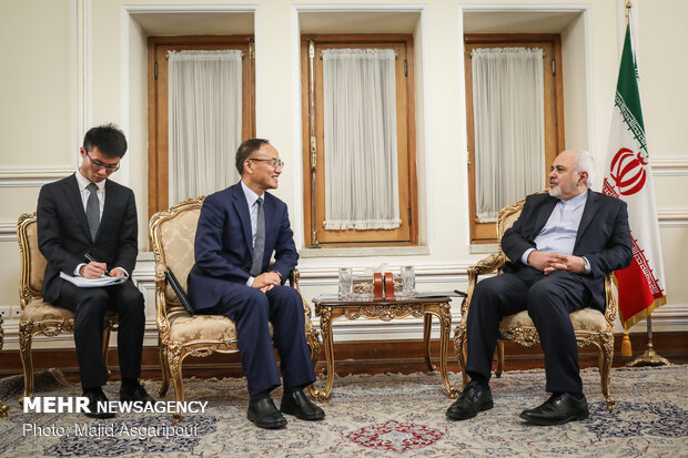 Zarif's meeting with Chinese deputy FM