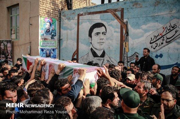تاکستان میں شہید حمید محمد رضائی کی تشییع جنازہ