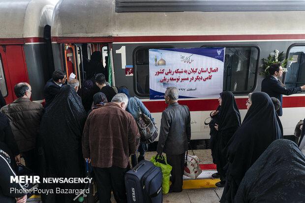 افتتاح راه آهن قزوین - رشت