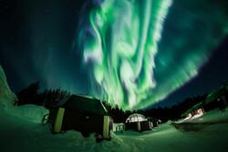 Norveç semalarındaki görsel şölenden görüntü