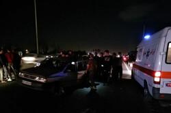 تصادف زنجیره ای در محور ورامین-تهران/۷نفر مصدوم شدند