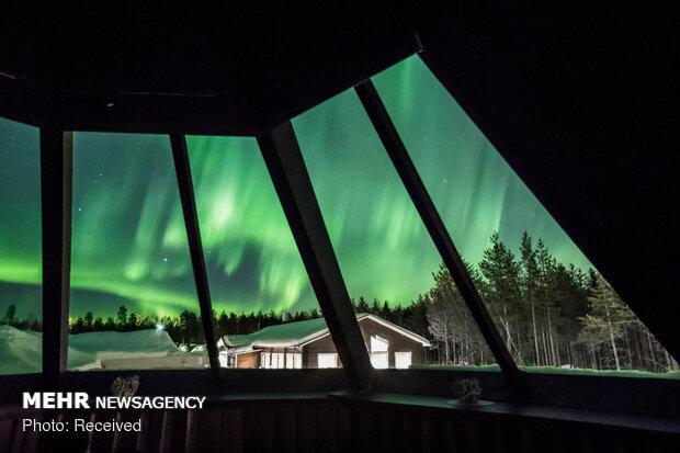 شفق قطبی در فنلاند
