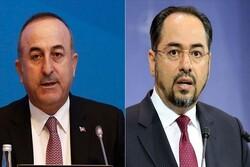 گفتگوی تلفنی وزرای خارجه ترکیه و افغانستان