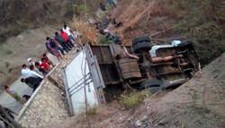 میکسیکو میں سڑک حادثے میں 25 تارکین وطن ہلاک