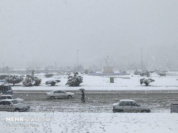 بارش برف در کرمانشاه