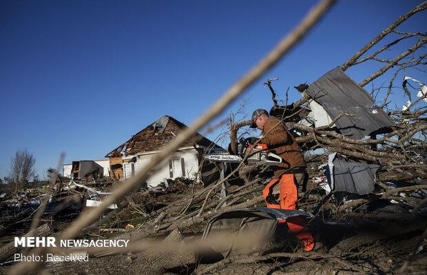 خسارات طوفان در جنوب آمریکا
