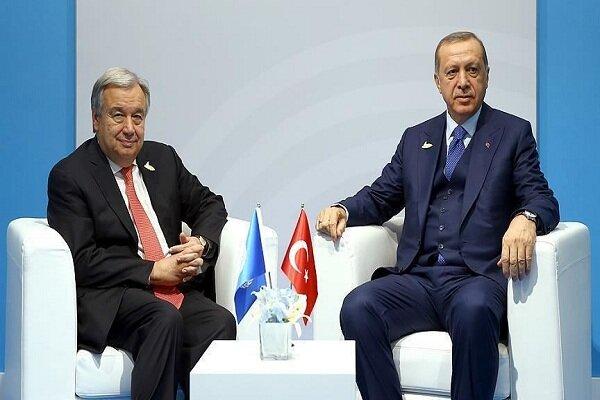 اردوغان و گوترش دیدار کردند