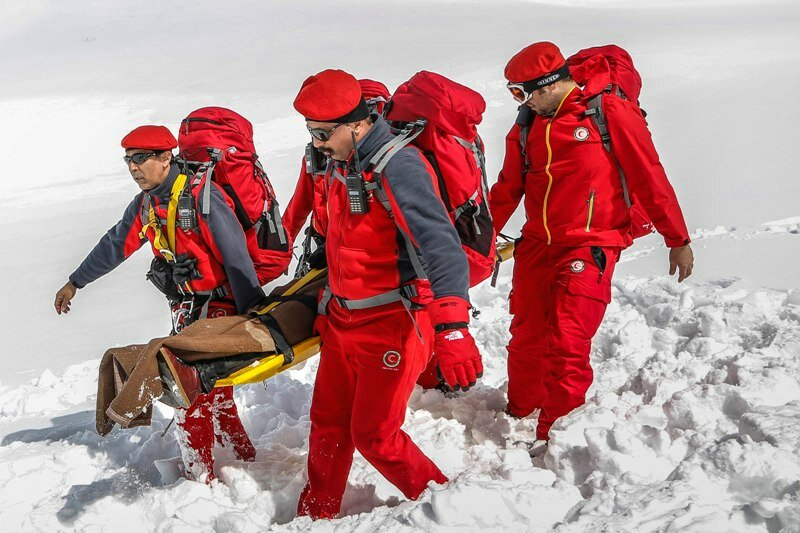 Mountain search and rescue groups on call during New Year