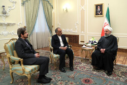 Iranian amb. to France meets with Pres. Rouhani before leaving on mission