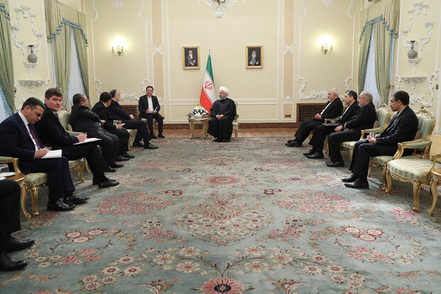 Pres. Rouhani calls for cementing Iran-Azerbaijan ties in all fields