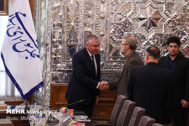 Meeting of Larijani and Bulgaria's dep, parl. speaker