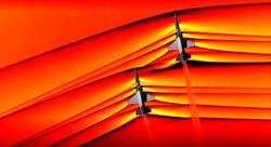 لحظة كسر جدار الصوت عبر طائرتين حربيتين / صور