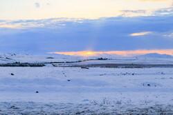 بارش برف در کوهستان های شمال کرمان