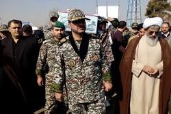 تشییع پیکر دو شهید گمنام دفاع مقدس در دانشگاه پدافند هوایی ارتش