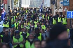 فرانس میں پیلی جیکٹ مہم اٹھارویں ہفتے بھی جاری