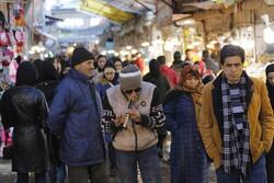 ہمدان میں عید نوروز کی مناسبت سے بازار میں عوام کا رش
