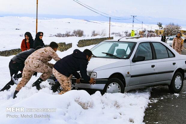 Qom under snow
